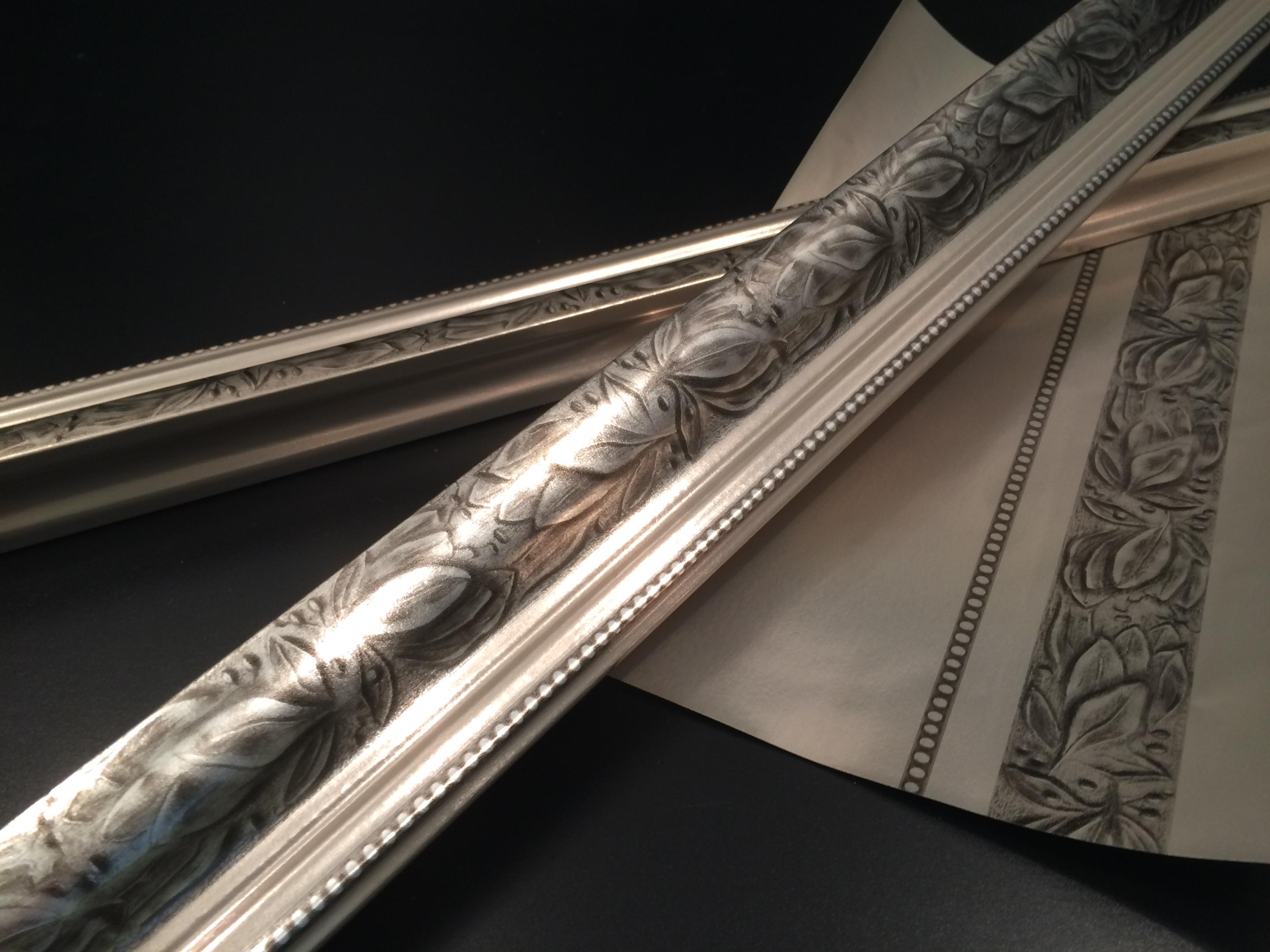 Kröning Echtmetall Folie für Spiegelrahmen