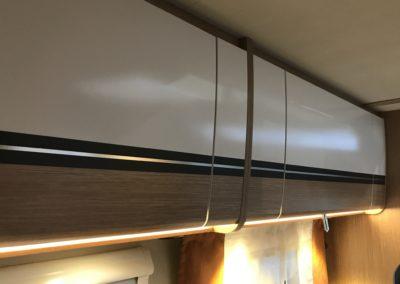 Kröning real metal foils position prints Caravan furniture flaps