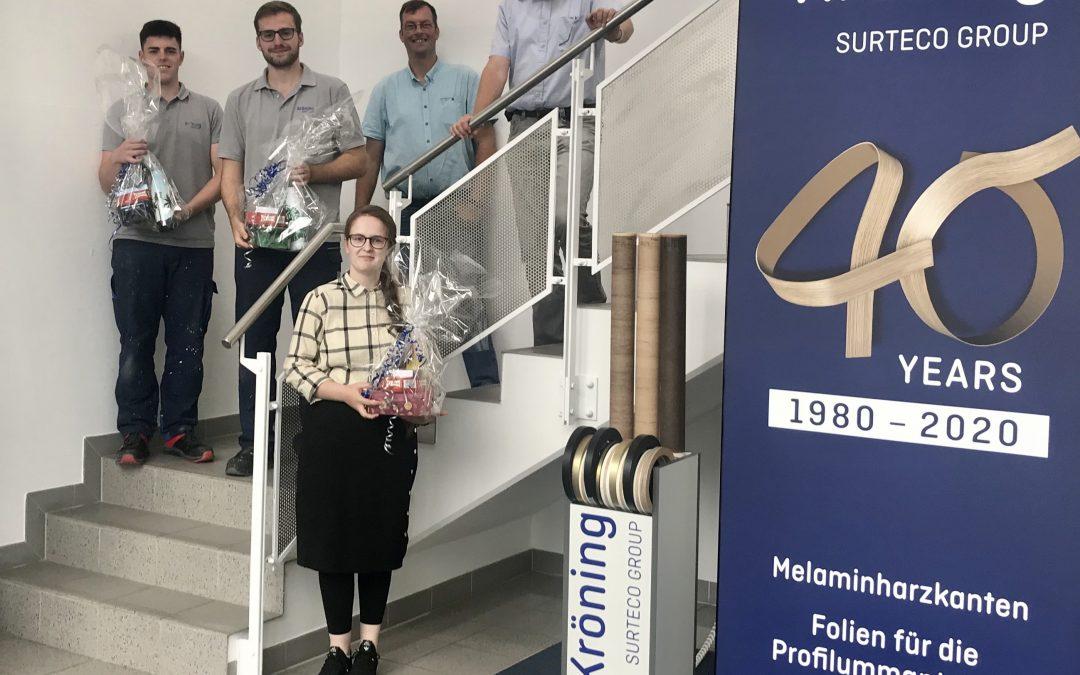 Kröning GmbH congratulates on passing the exams