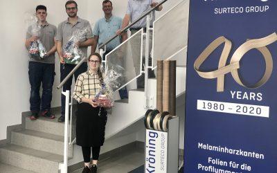 Kröning GmbH gratuliert zu bestandenen Prüfungen